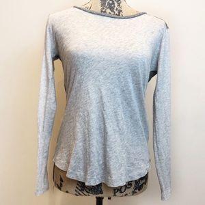 Madewell Whisper Cotton Grey Long Sleeve T-Shirt